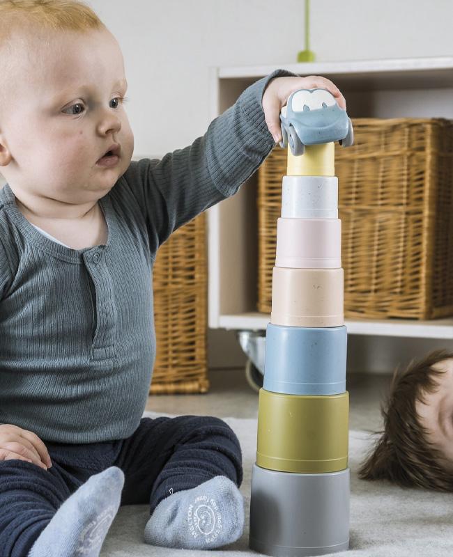 jouet eco friendly noel jouet empilable bioplastique