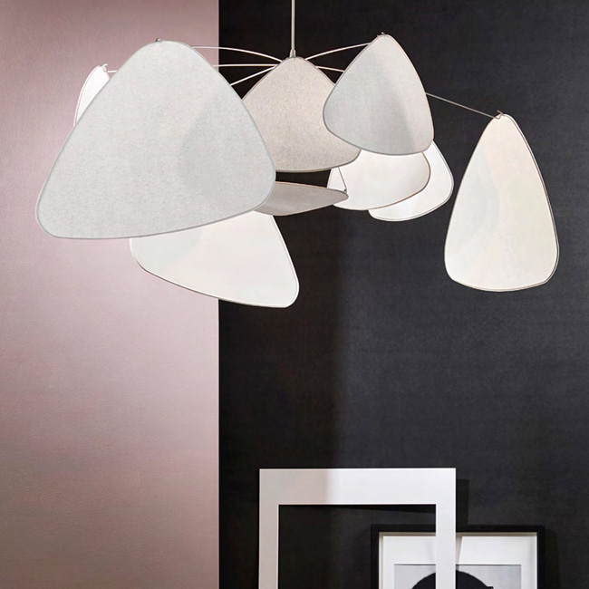 suspension mobile screen blanc murano