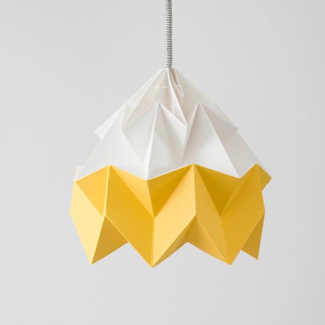 suspension origami etsy nellianna jaune blanc