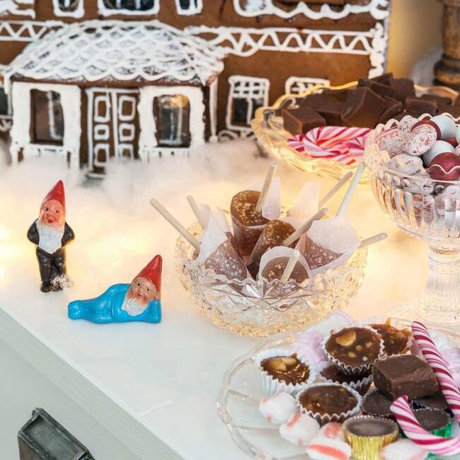 visite deco noel rouge or chocolat