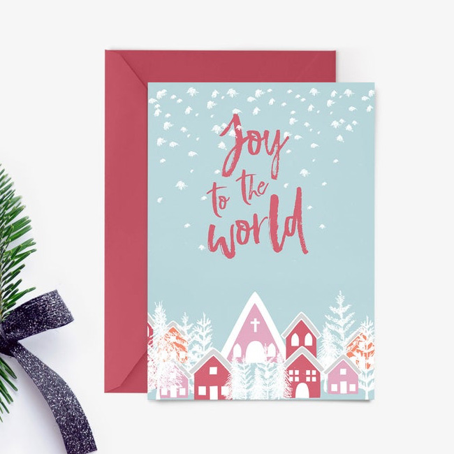 carte noel à imprimer etsy joy to the world