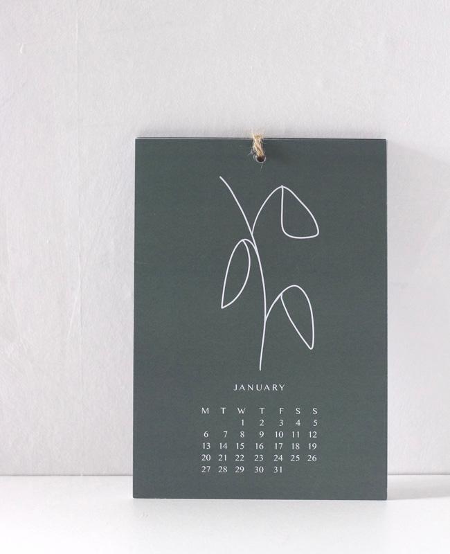 etsy fav calendrier 2020 minimaliste