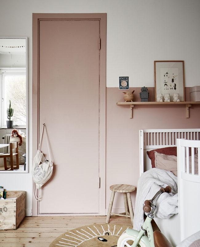deco chambre bébé vieux rose