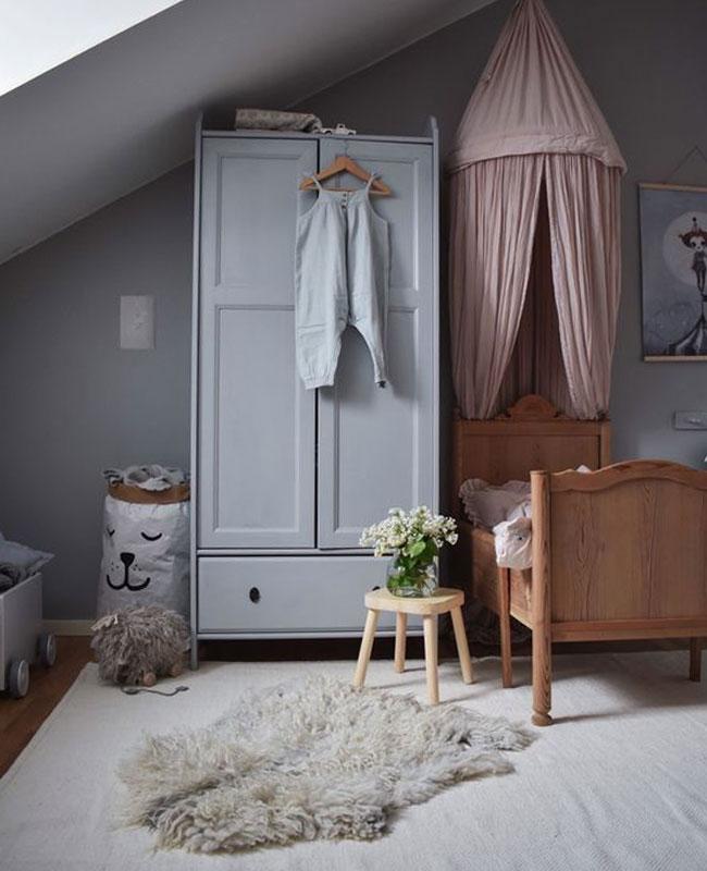 deco chambre bébé rose vieux rose