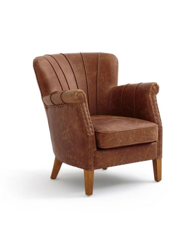 deco industrielle fauteuil cuir vintage