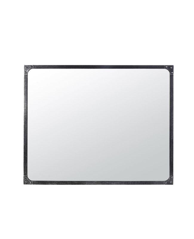 deco industrielle miroir métal noir