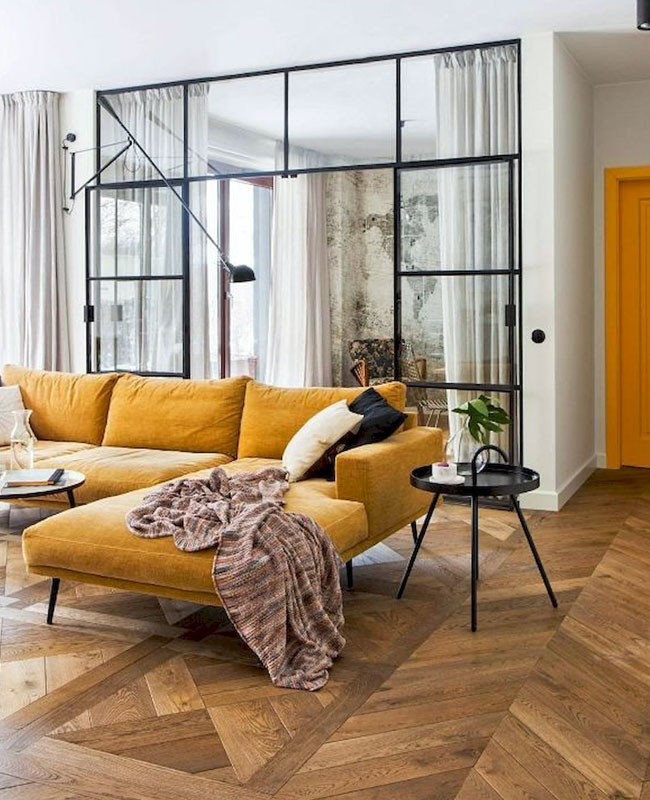 deco salon jaune moderne