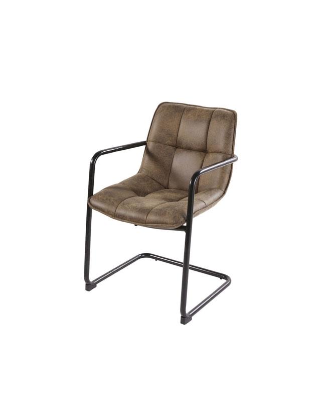 deco salon moderne beige noir fauteuil suédine camel
