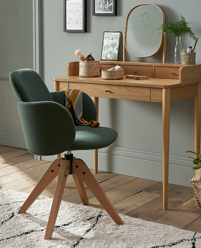 fauteuil bureau carina vert la redoute