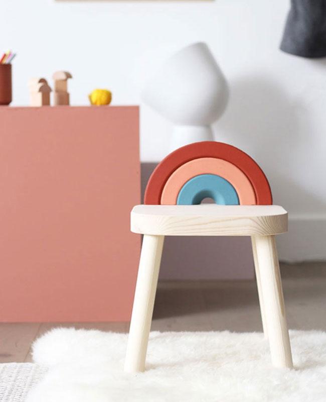 Ikea Hack flisat tuto diy arc en ciel