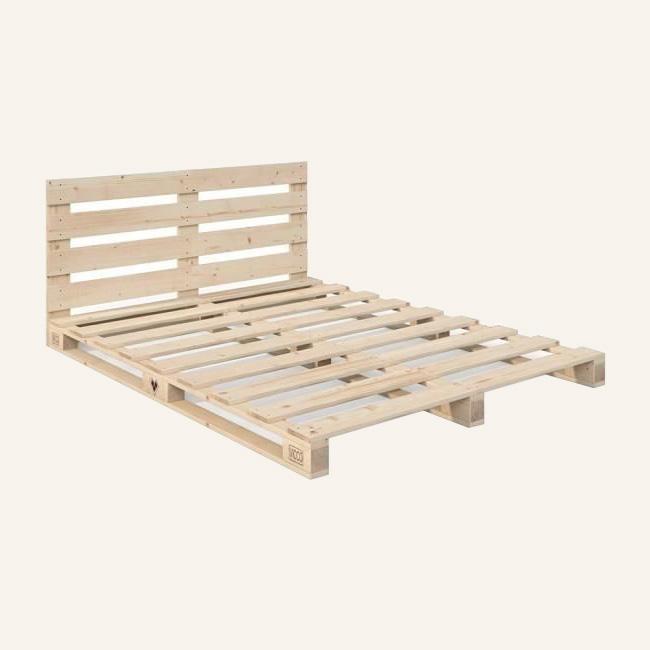 lit palette diy avec tête de lit