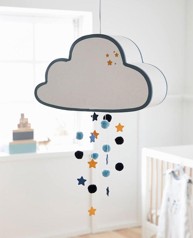 luminaire nuage deco bebe suspension