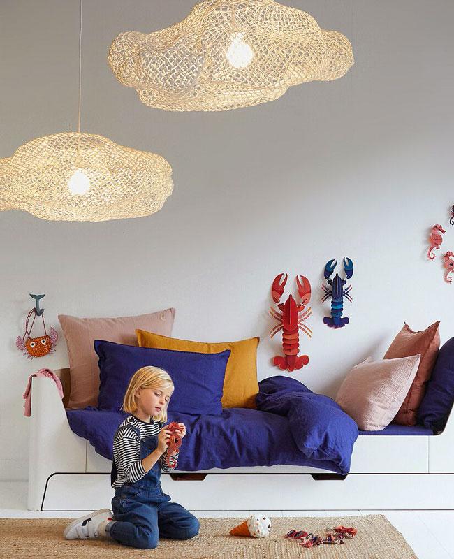luminaire nuage deco bebe suspension plafonnier