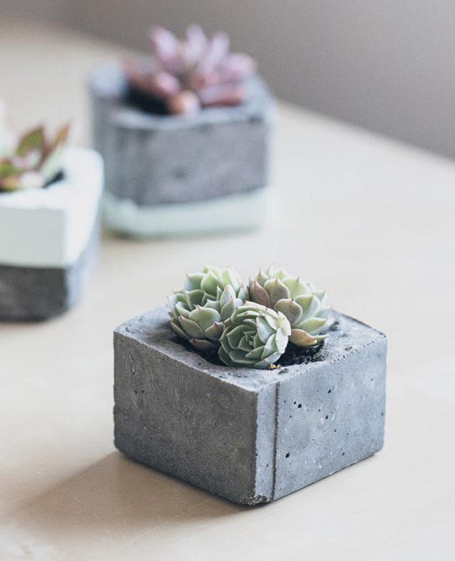 pot beton tuto diy mini