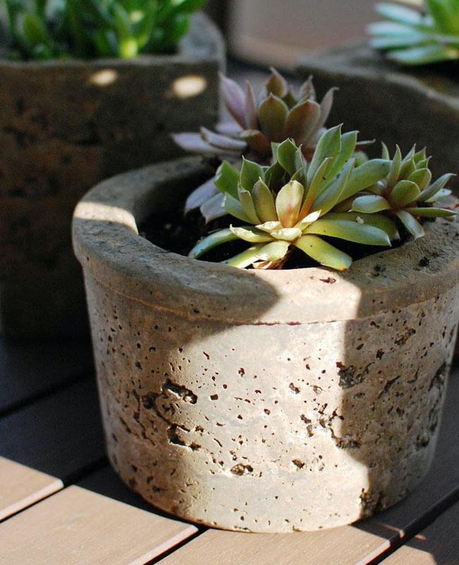 pot beton tuto diy jardin