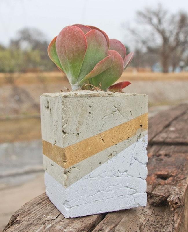 pot beton tuto diy carré