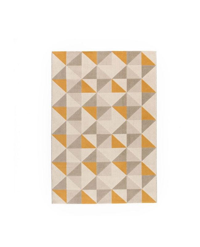 selection meuble deco scandinave tapis géométrique gris jaune
