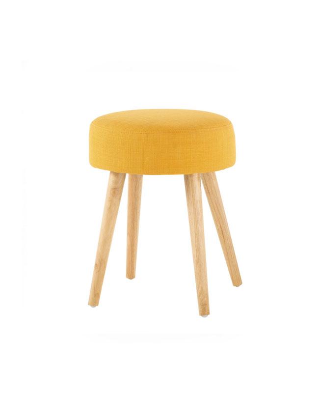 selection meuble deco scandinave tabouret jaune