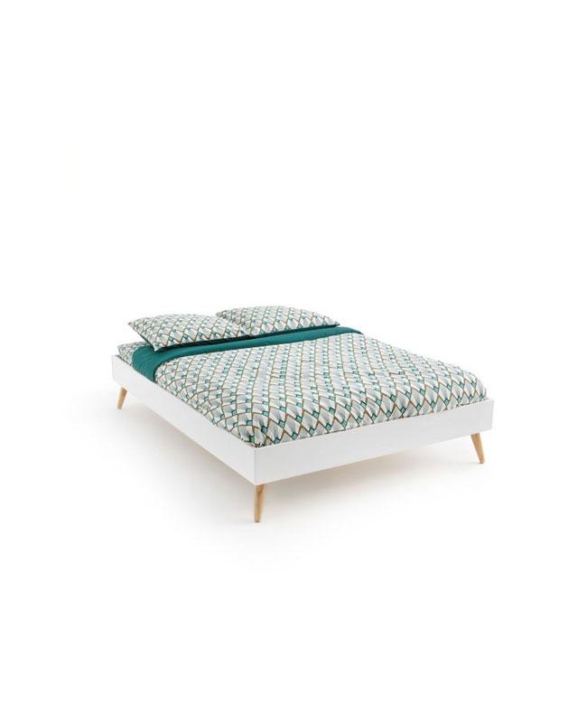 selection meuble deco scandinave lit blanc bois