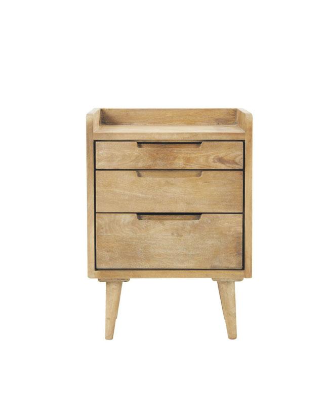 selection meuble deco scandinave chevet bois