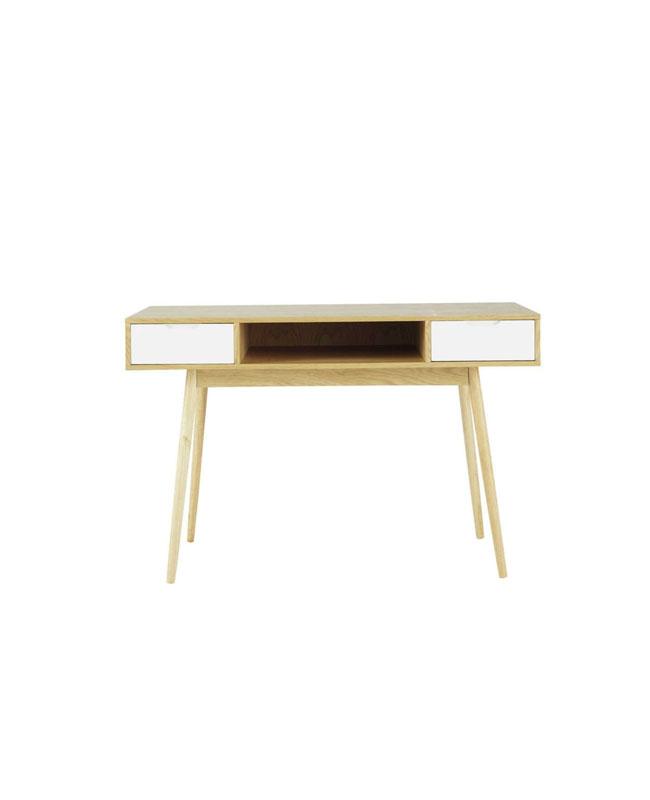 selection meuble deco scandinave bureau bois blanc