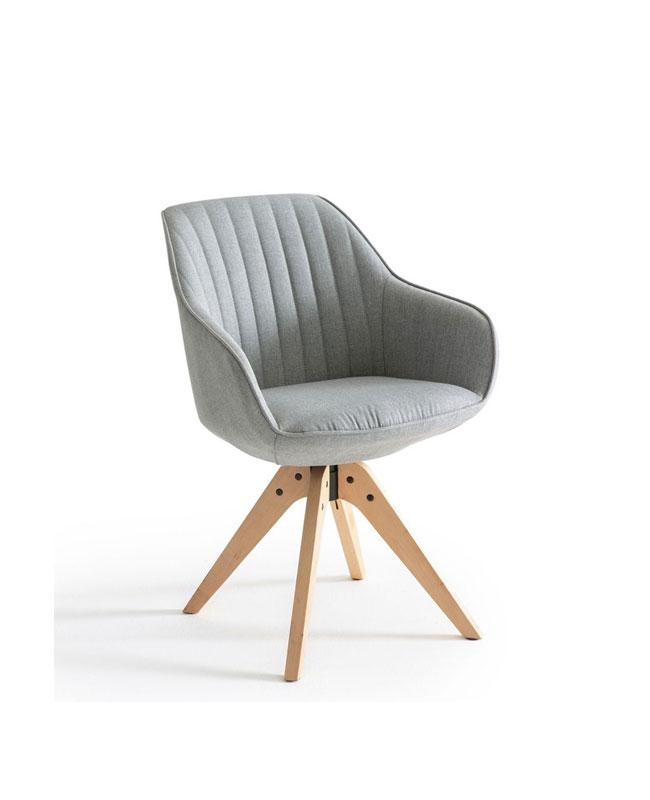 selection meuble deco scandinave fauteuil rotatif gris bois