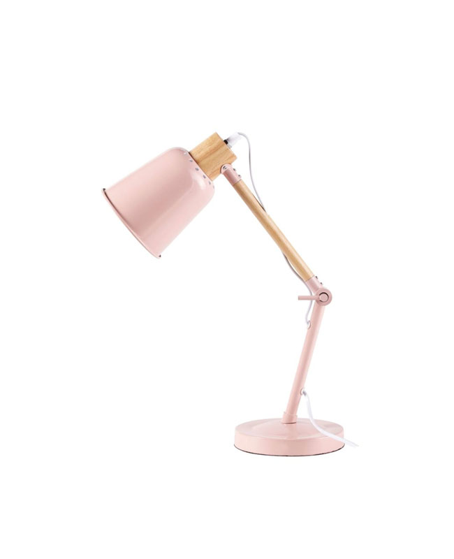 selection meuble deco scandinave lampe de bureau rose