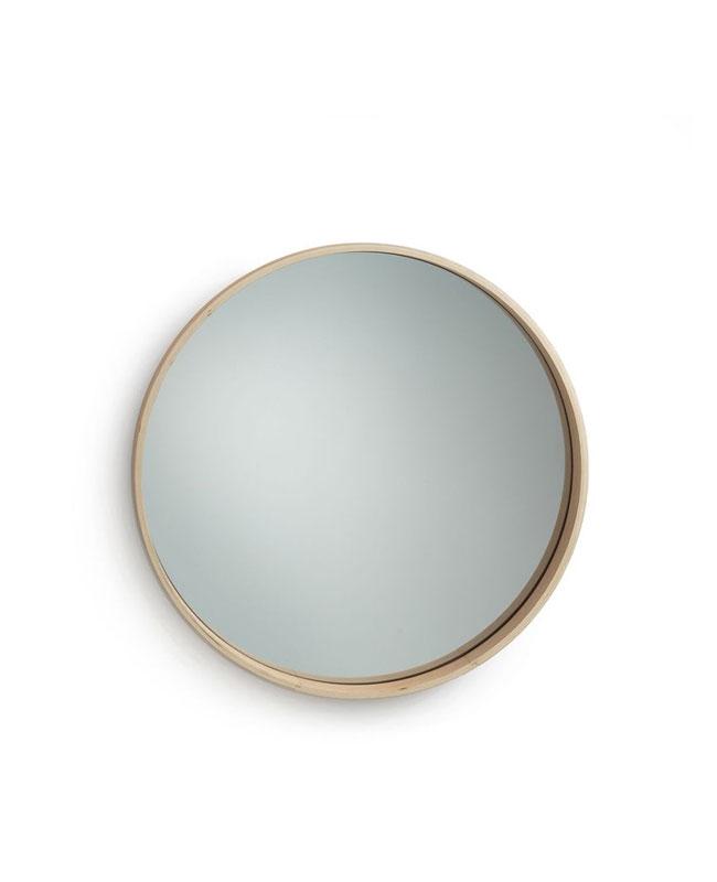 selection meuble deco scandinave miroir rond bois