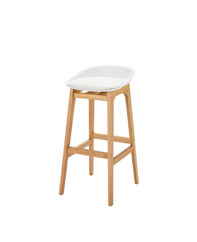 selection meuble deco scandinave tabouret bois blanc
