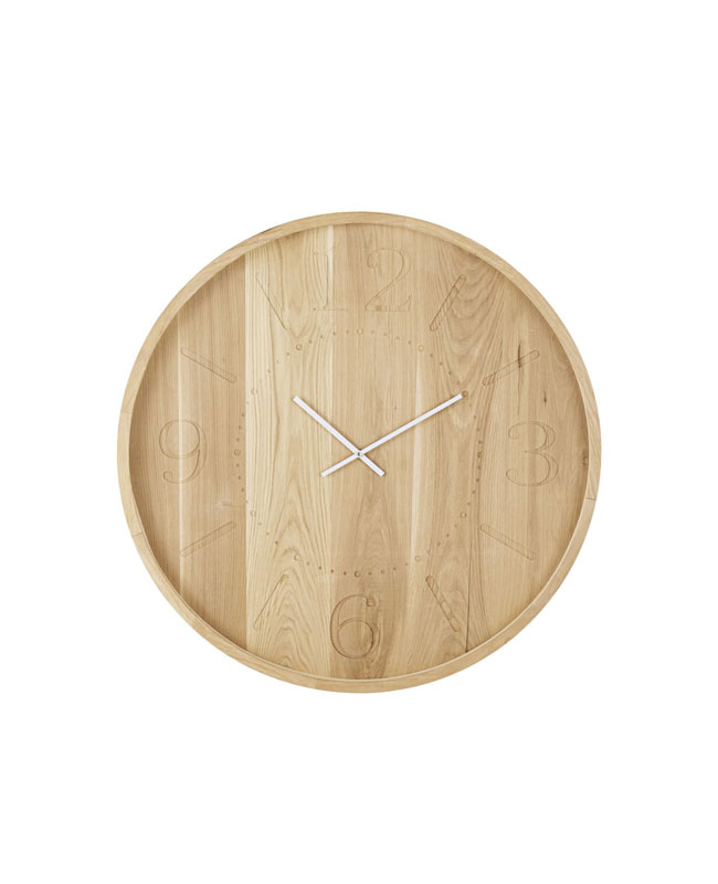 selection meuble deco scandinave horloge bois blanc