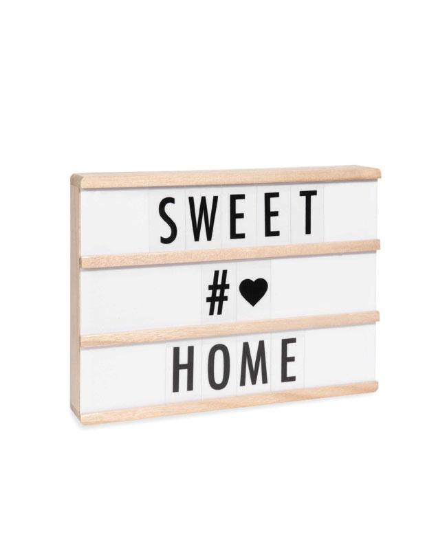selection meuble deco scandinave tableau message bois blanc