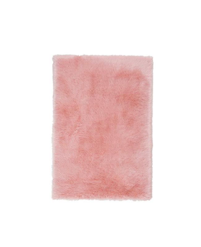 selection meuble deco scandinave tapis fausse fourrure rose