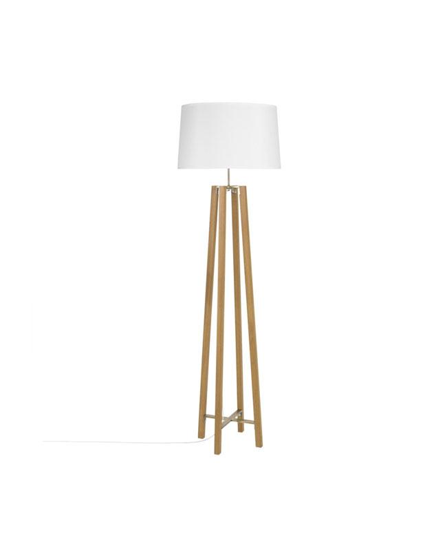 selection meuble deco scandinave lampadaire bois blanc