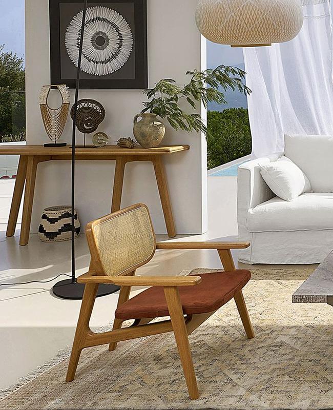 soldes deco 2020 fauteuil terracotta