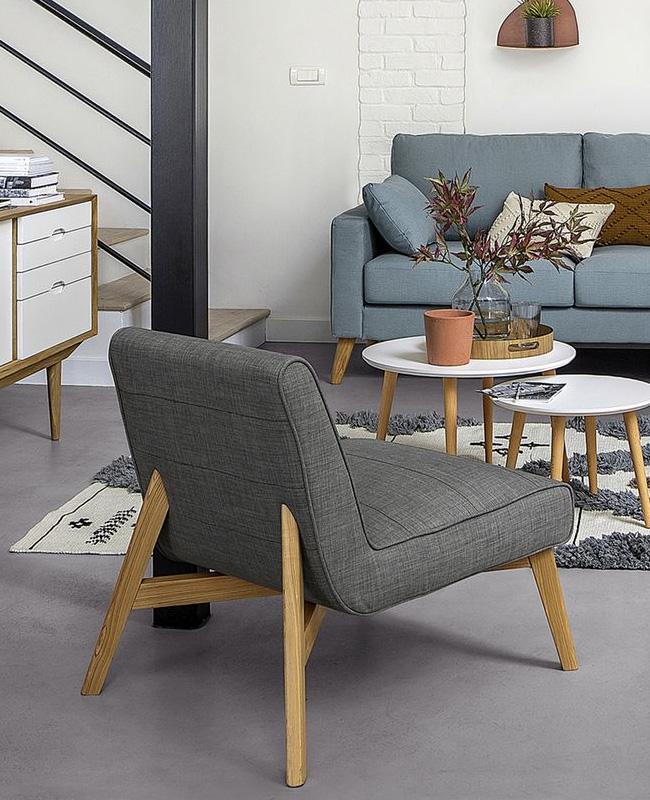 soldes deco 2020 fauteuil scandinave gris