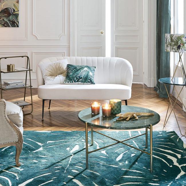 soldes deco 2020 table basse marbre vert