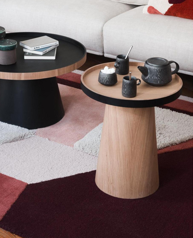 table d'appoint basse ronde