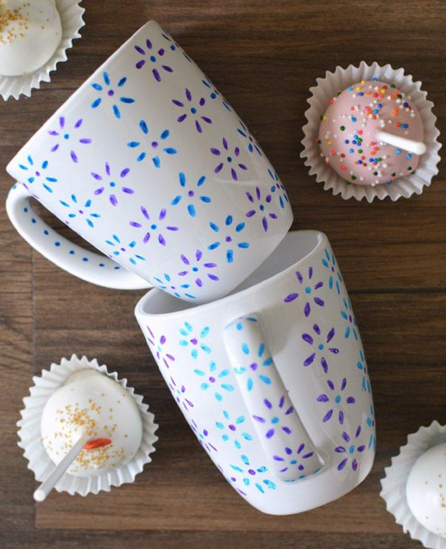 tasse mug diy fleur