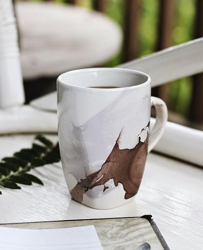 tasse mug diy marbre