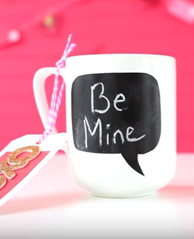 tasse mug diy Saint Valentin ardoise