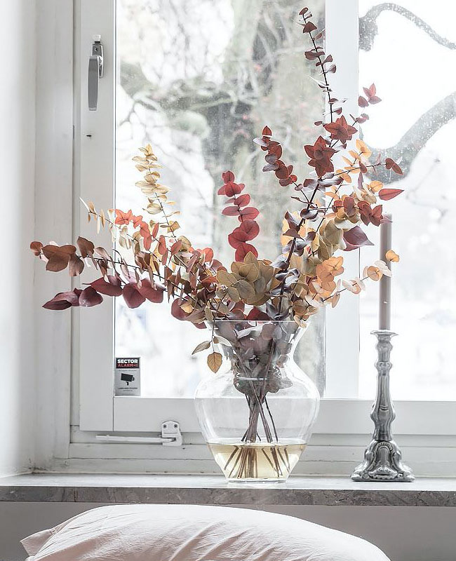 visite deco scandinave zen fleurs séchées
