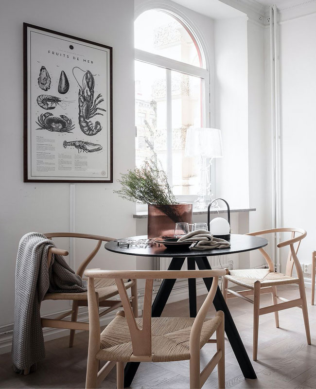 visite deco scandinave zen salle a manger