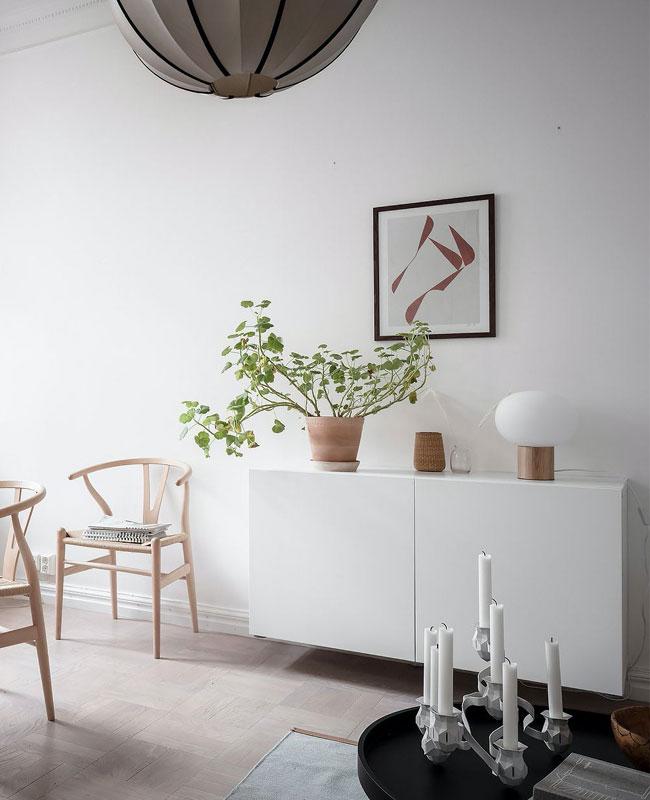 visite deco scandinave zen buffet blanc