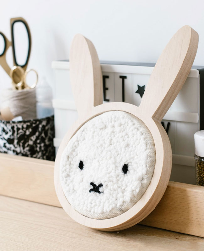 diy deco chambre bebe lapin punch needle