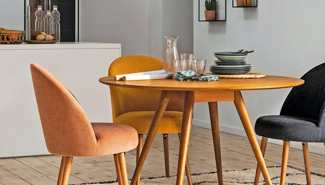 chaise fauteuil tissu salle à manger