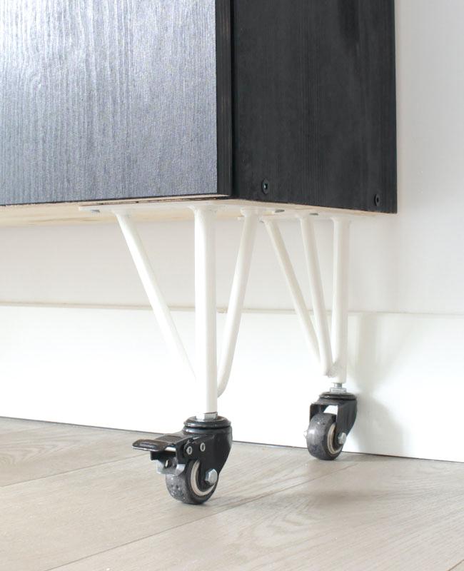 Ikea Hack ivar roues liege noir