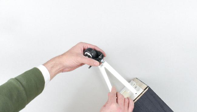 Ikea Hack ivar roues liege noir étape 4