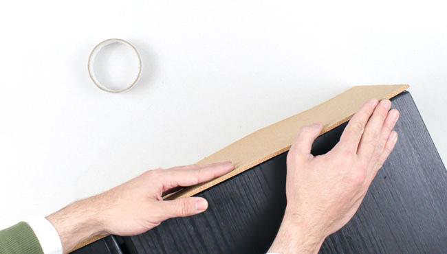 Ikea Hack ivar roues liege noir étape 8