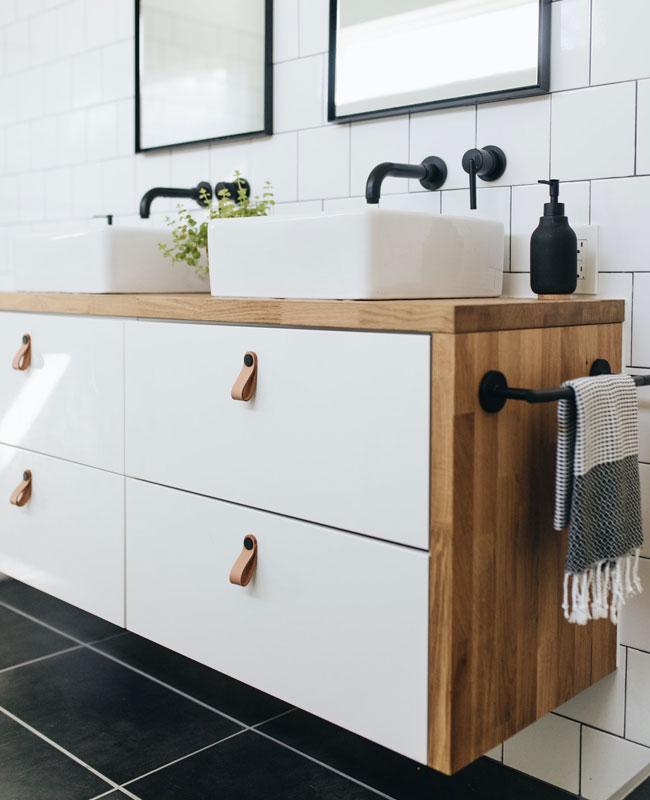 Ikea hack salle de bain plan de travail
