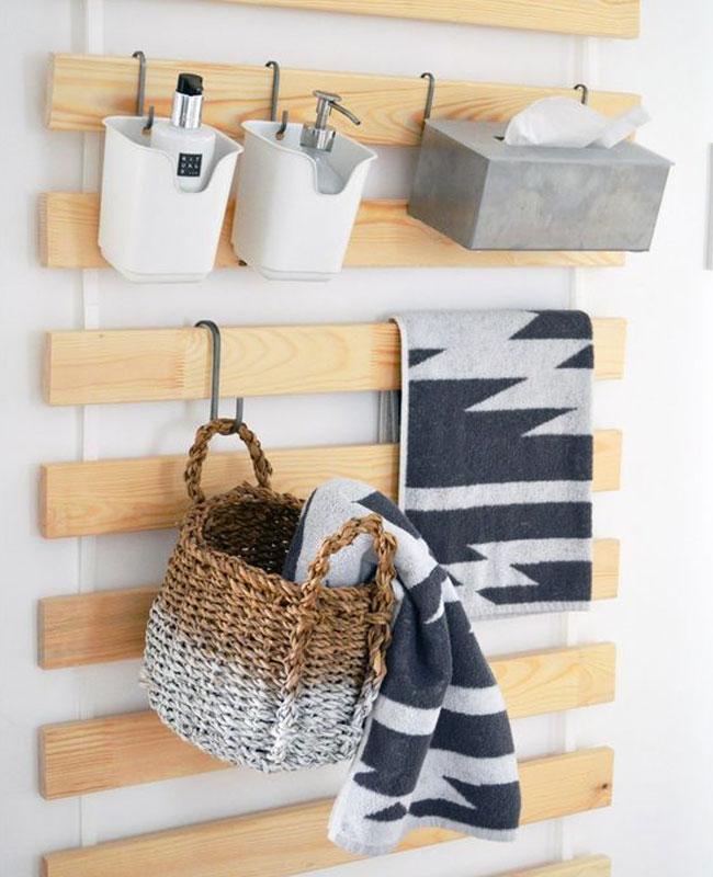 Ikea hack salle de bain sommier latte mur